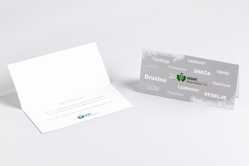 Tiskarna Petrič | Voščilnica Grawe / tisk / tiskanje