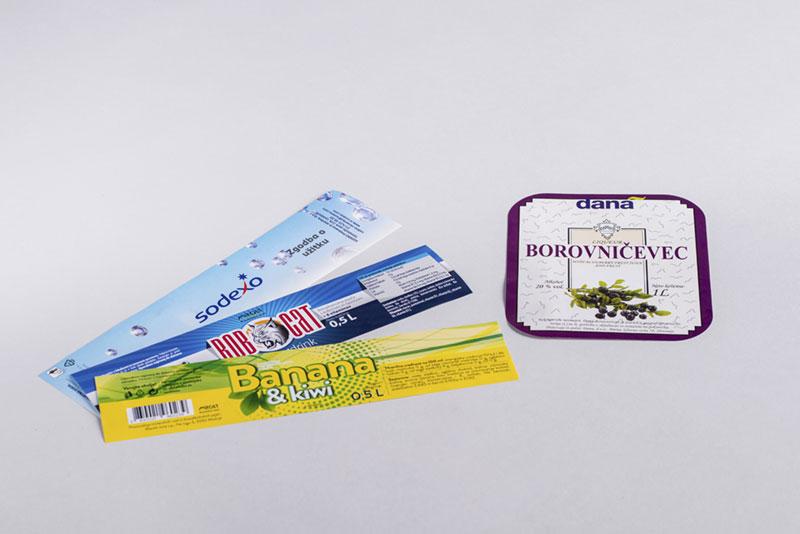 Tisk embalaže in etiket - tiskovine